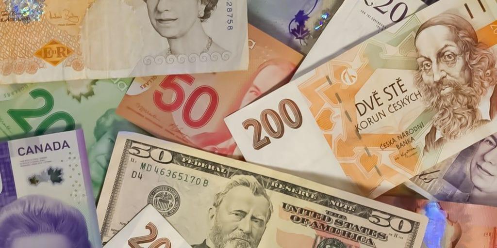 Készpénz külföldön.